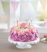 Birthday Wishes Flower Cake? Pastel