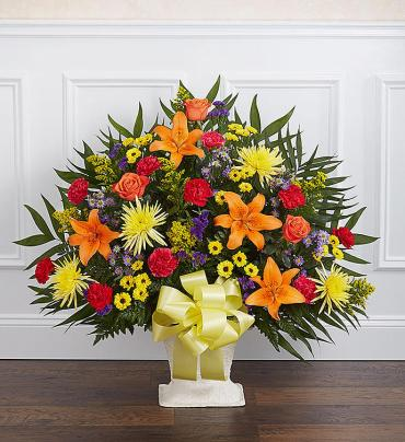 Heartfelt Tribute™ Floor Basket- Bright