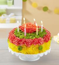 Birthday Wishes Flower Cake? Yellow