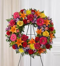 Serene Blessings? Standing Wreath- Bright